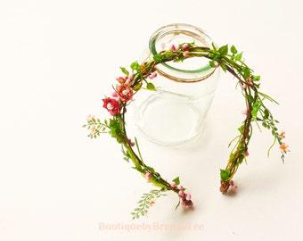 Angel Pink Flower Crown