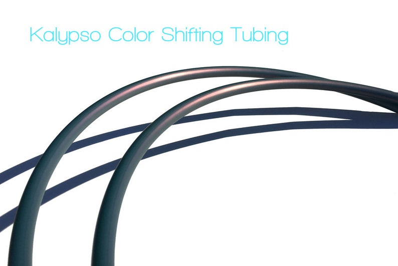 Kalypso Polypro Travel Hula Hoop with Push Button Connector  Color Shifting Hula Hoop 58 OD Tubing  Grip Tape Option