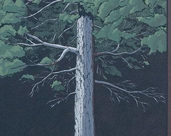Tree Portrait 003 - Silk Screen Print