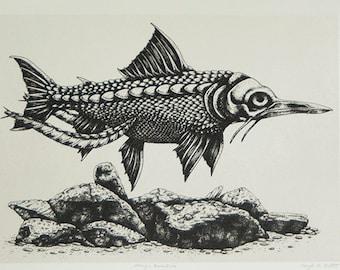 Mengu Bonefish - Silkscreen Print - Scientific Study