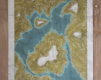 Terrene 002 - Map - Screen Print