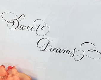 Sweet Dreams calligraphy printable wall art, Bible Journaling for cutout--  instant download