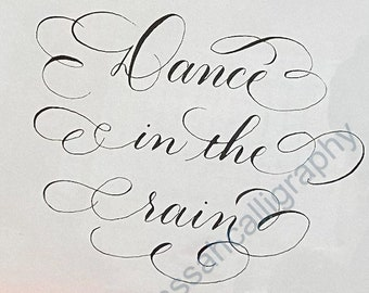 Dance in the Rain calligraphy printable wall art, Bible Journaling for cutout--  instant download