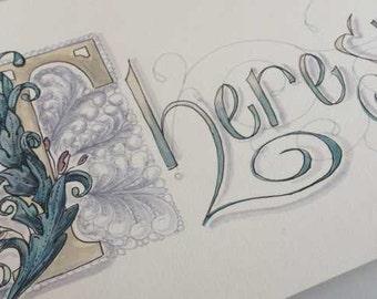 Custom Illuminated Painted Letter