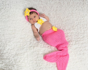 Baby Mermaid Outfit - Newborn Mermaid Outfit - Little mermaid costume - Baby Mermaid Tail - Baby Mermaid Costume - New Mom Gift -Baby Shower