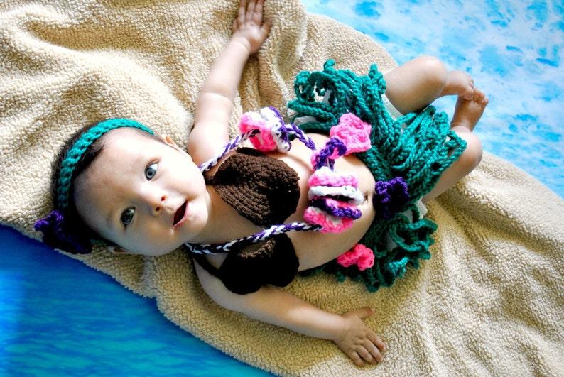Hula Photo Prop baby shower gift Baby Gift Ideas Hula Girl Outfit Halloween baby costume Hawaiian Costume Baby Hula costume