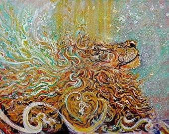 Sun Shower - from Original Painting mixedmedia Original or Custom made Art Prints in Various Size