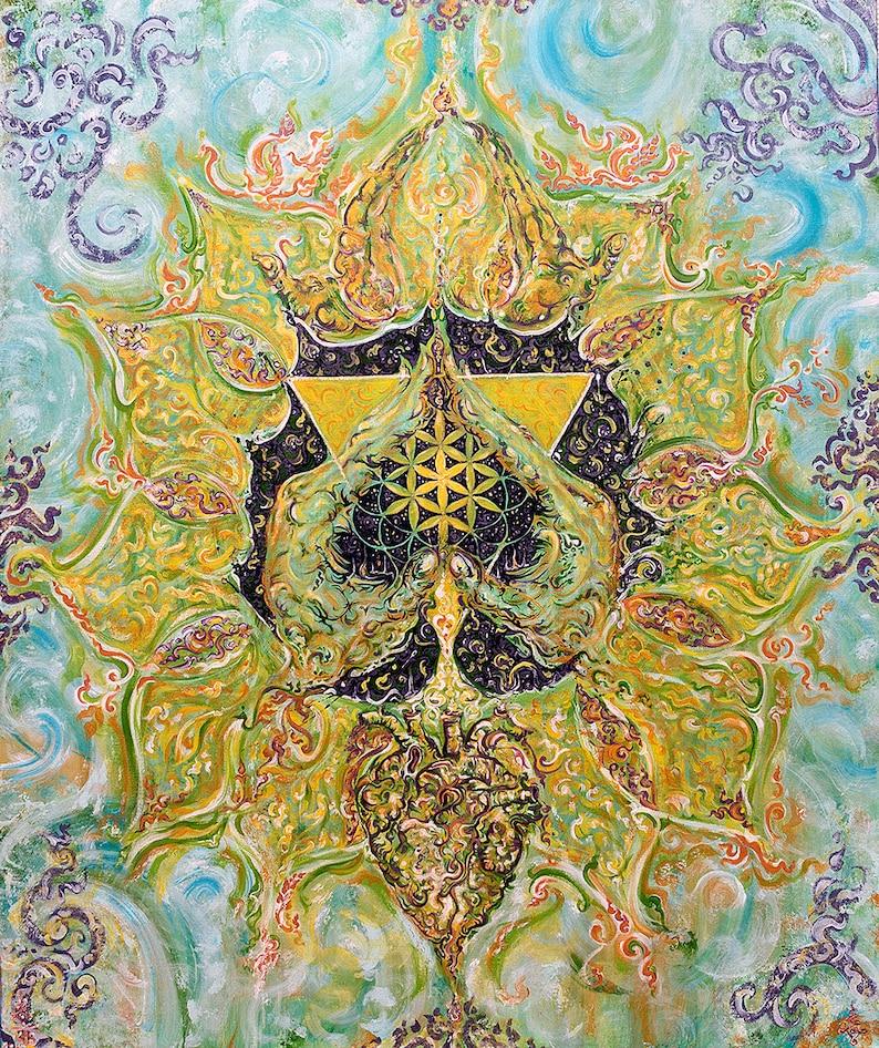 Anahata HEART Chakra  Energised Painting on Canvas  image 0