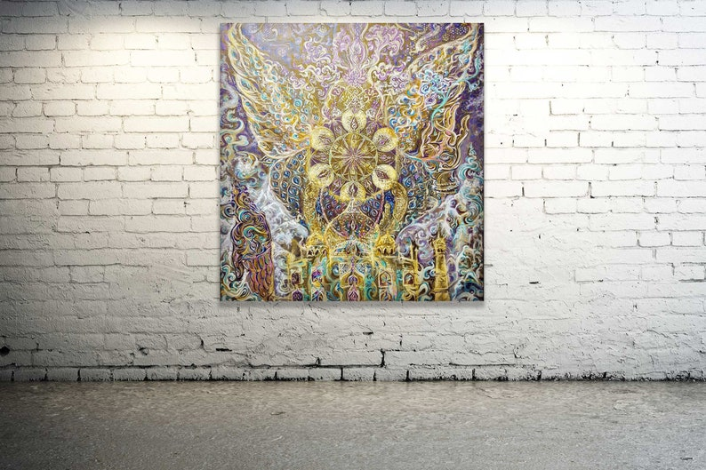 Sahasrara CROWN CHAKRA  Original Painting  Artprint  image 0