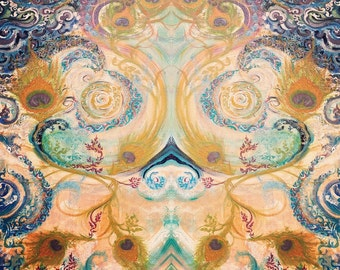 Infinite Reflections - Sacred Mirror - Artprint-Banner,Poster,Canvas - Custom-made in various size