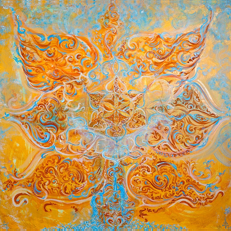 Svãdhishthãna  Sacral Chakra Painting  Energised Unique image 0