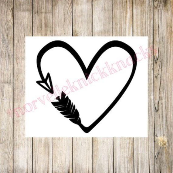 Love Symbol Shape Car Window Vinyl Decal Sticker 01566 Tribal Heart Scroll