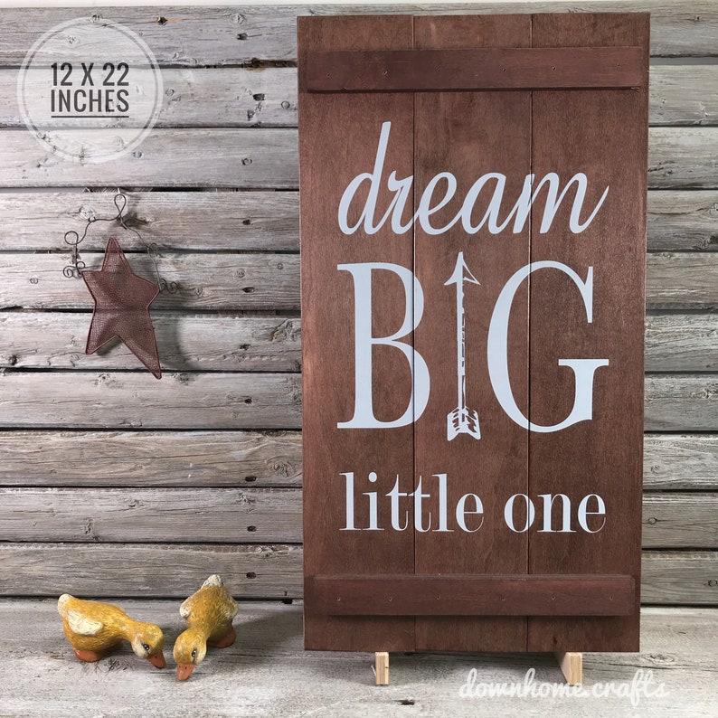 Dream big Little One, Baby Room Decor, Child Gift, Boy Nursery, Girl  Newborn, New Baby Present, Nursery Decor, Baby Gift, Baby Boy Sign