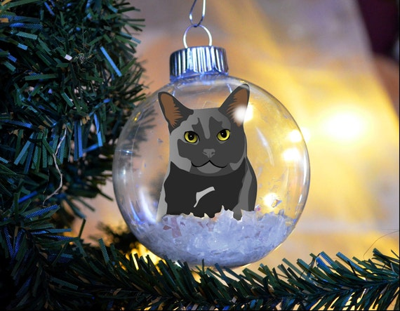 Black Cat Christmas Ornament - Personalized or Not