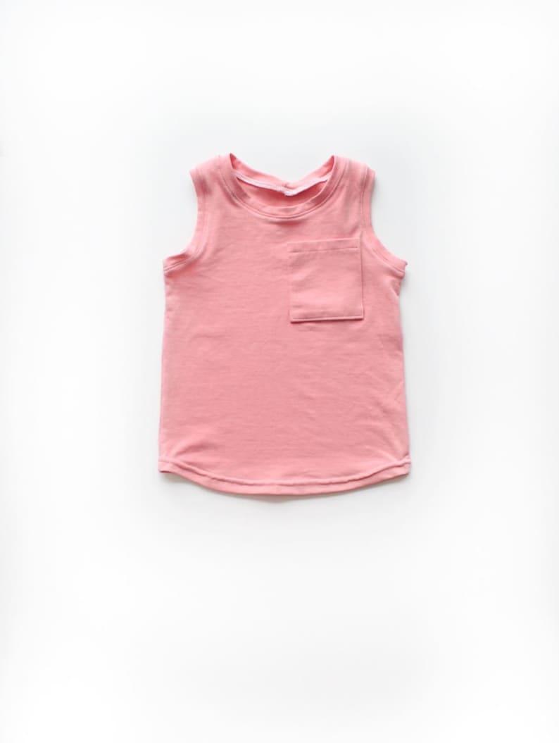 0e038404b107c4 Dusty Pink Pocket Tank   Girls Shirt   Girls Tank Top   Baby