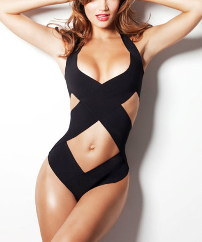 daf3cd1cd Bandage swimsuit  bathing suit as seen in GQ one piece