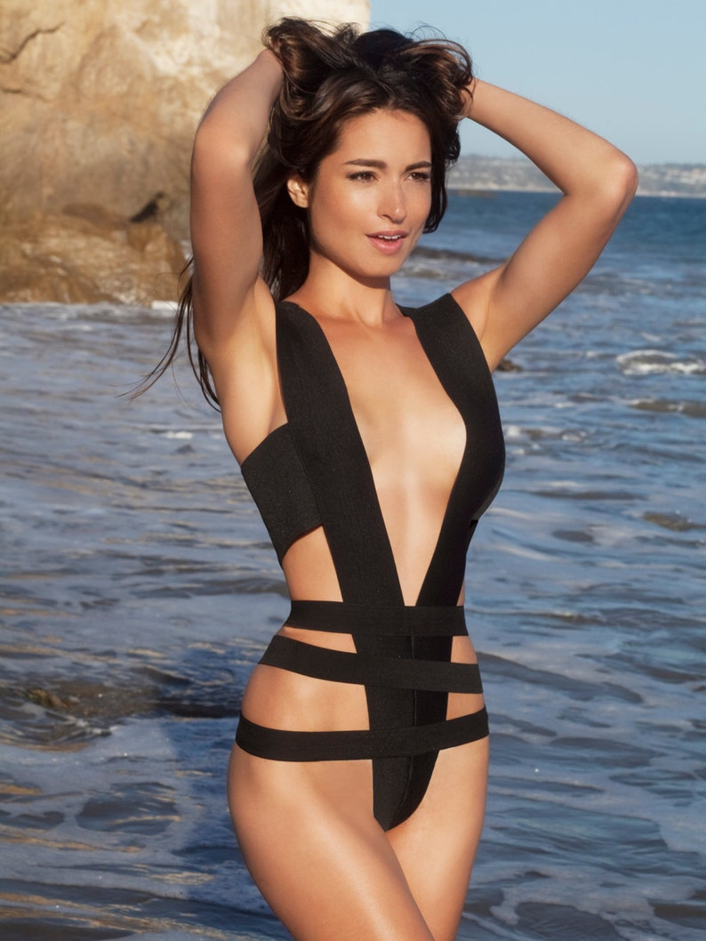 e9a9fded62 Bandage swimsuit/ bathing suit as seen in GQ one piece   Etsy