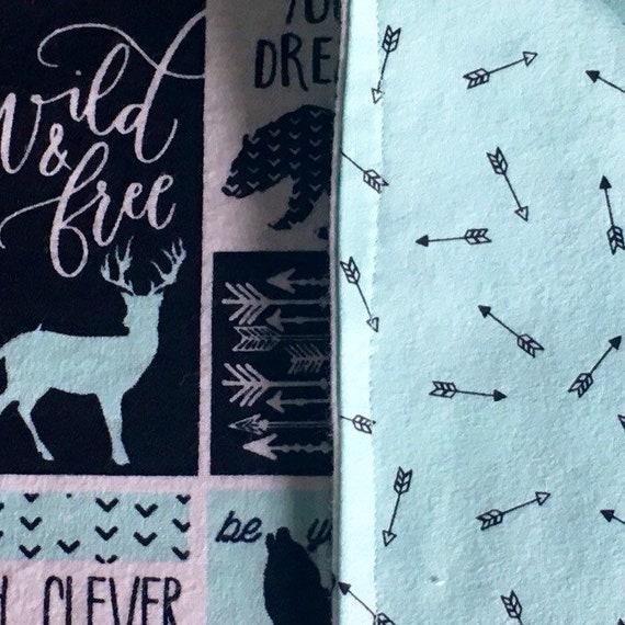 Mint Be Brave BabyChild Blanket