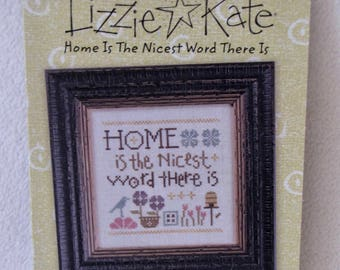 "Lizzie Kate 'Snippet' ""Home is the Nicest......."" #S131 Counted CrossStitch"