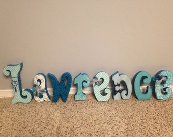 Custom wood letters. Wood letter decor. Wedding decor. Name decor