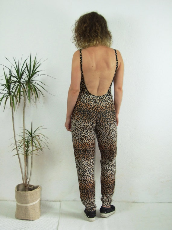 90's vintage women's leopard printed high waisted… - image 5