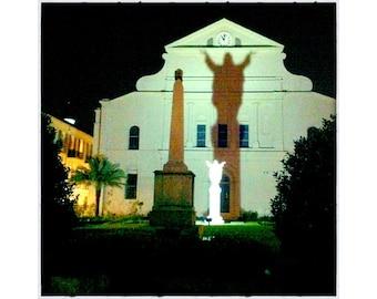 St. Anthony's Garden at night