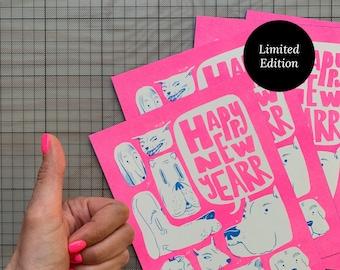 Dog Faces A5 Postcard Bundle (5) | Riso Print, Limited Edition