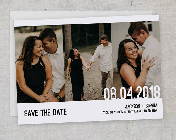 Modern Save the Date | Multi Photo Save the Date| Simple Photo Save the Date | Photo Wedding Save the Date | Wedding Announcement