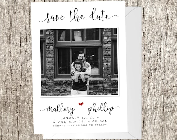 Script Save the Date | Photo Save the Date | Simple Photo Save the Date | Photo Wedding Save the Date | Wedding Announcement