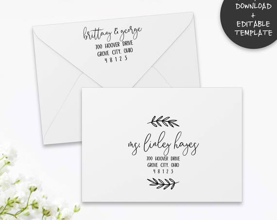 Printable Envelope Template | Editable Envelope Template | A7 | A1 | Wedding Envelope Addressing Template | RSVP Envelope Addressing PDF