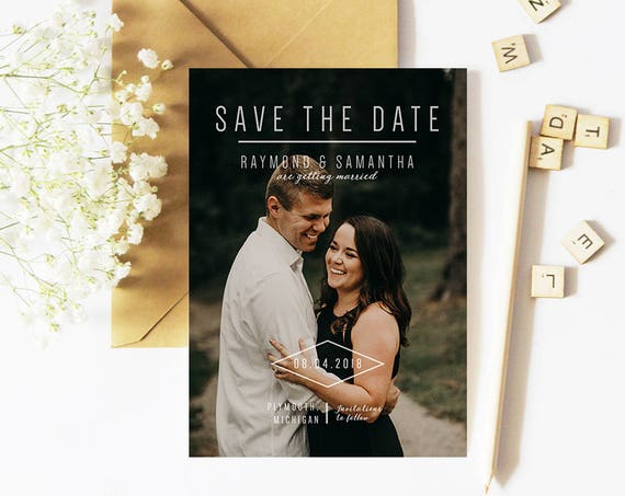 Modern Save the Date | Photo Save the Date | Simple Photo Save the Date | Photo Wedding Save the Date | Wedding Announcement