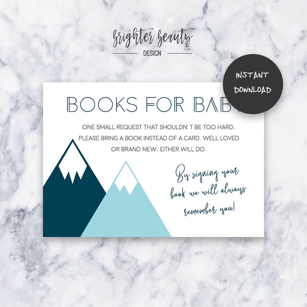 Teal adventure books for baby baby shower insert instant teal adventure books for baby baby shower insert instant download do it yourself printable solutioingenieria
