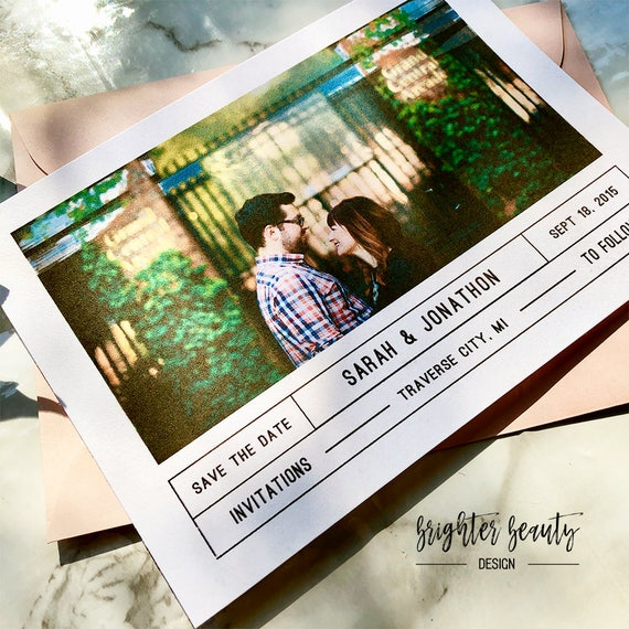 Simplistic Minimal Save the Date | Photo Save the Date | Simple Photo Save the Date | Photo Wedding Save the Date | Wedding Announcement