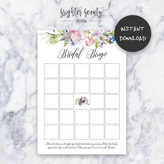 Bridal Bingo | Bridal Shower Bingo Game | Instant Download | DIY | Printable