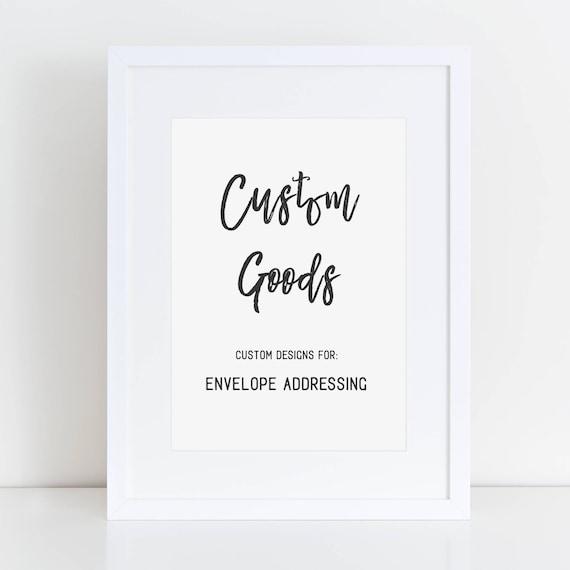 CUSTOM - Envelope Addressing