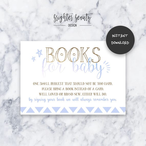 Boy Oh Boy Books for Baby | Baby Shower Insert | INSTANT DOWNLOAD | Do It Yourself | Printable