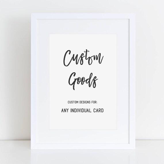CUSTOM - Individual Card Design
