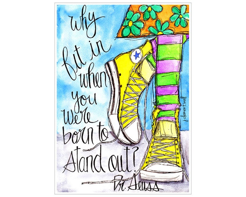 Stand Out 5x7 greeting card