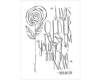Bob Dylan birthday card