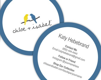 Chloe and isabel etsy quick view chloeisabel round business cards colourmoves