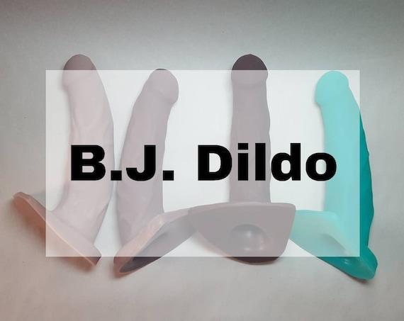 The B.J. Dildo Designed to Suck-Platinum Silicone-Adult Sex Toy-Blow Job-Hand Sculpted-Mature
