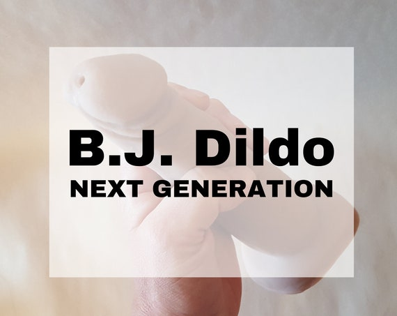 BJ Dildo Next Generation - Dual Function - Platinum Silicone - Adult Toy - Mature
