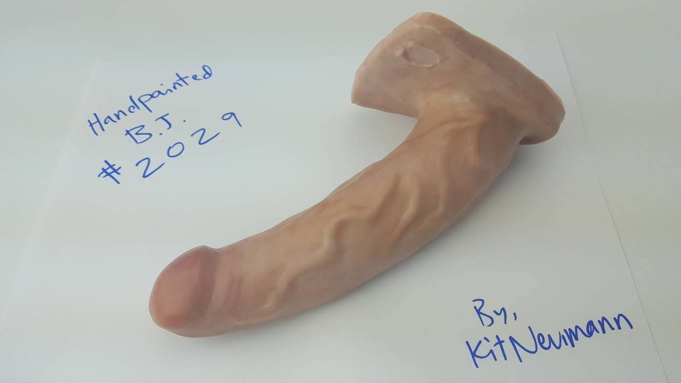 Bj Dildo 2029-Hand Painted Silicone Dildo-Mature-Adult-Sex Toy-Designed To Suck-2639