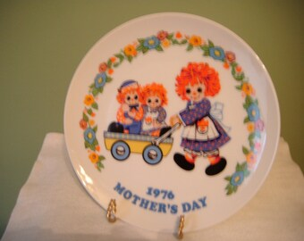 Vintage Raggedy Ann and Andy Mother's Day collector plate