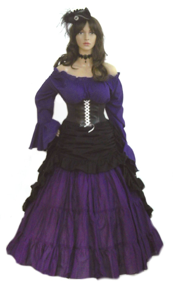 47b5d137a1a Pirate Dress Renaissance Corset Gown Steampunk Corset Costume