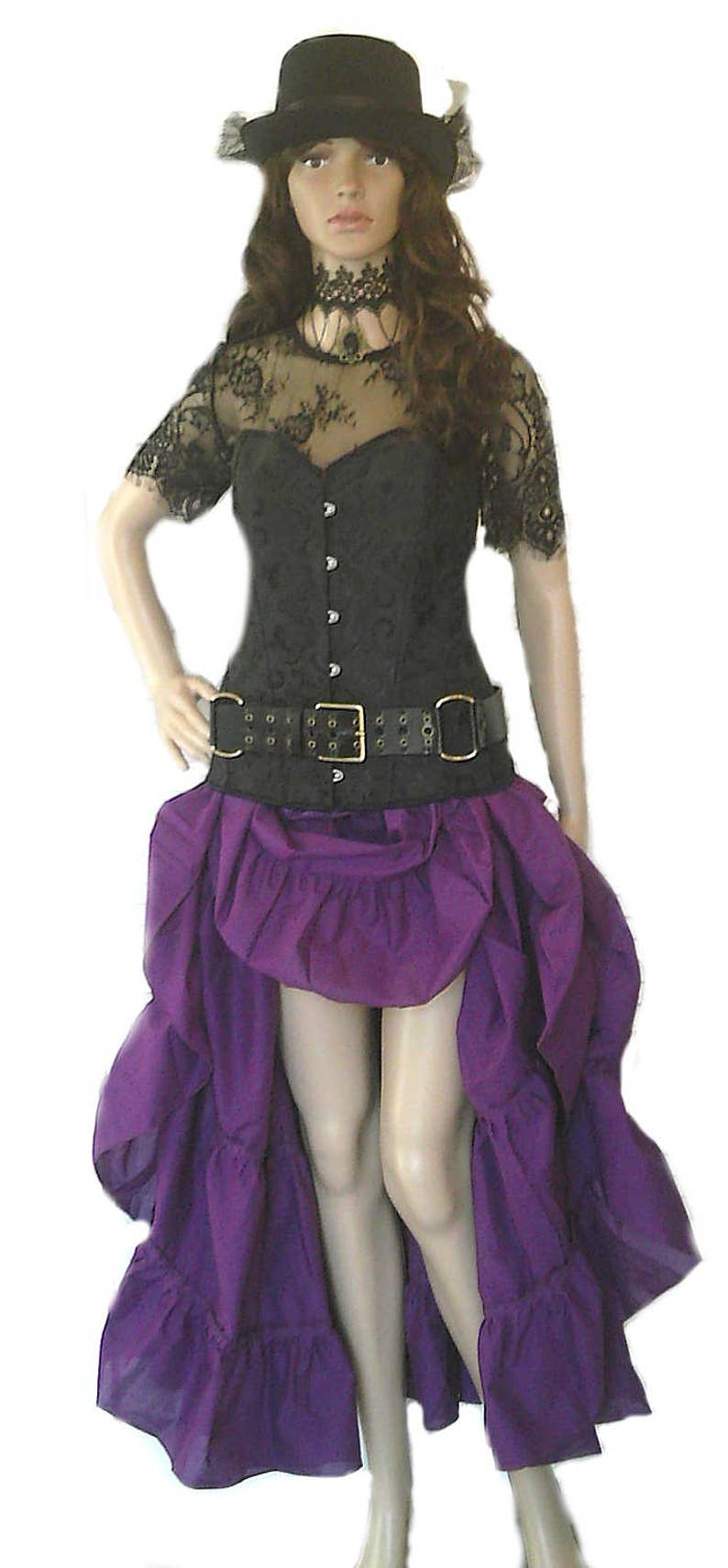 81d75c8a362 Steampunk Renaissance Dress Corset Skirt Lace Blouse Complete