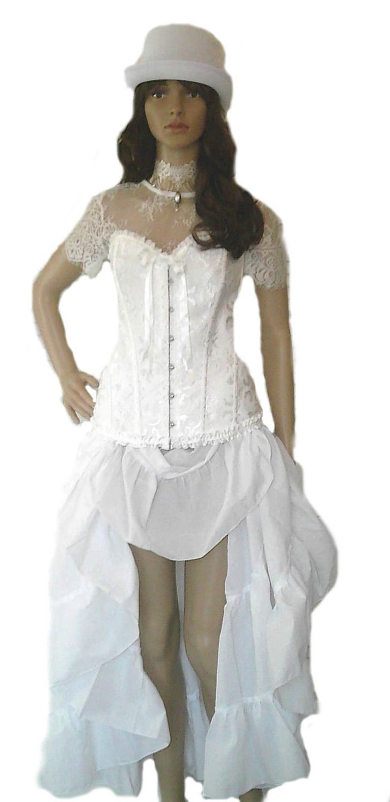 be2858c104e Steampunk Dress Costume Wedding Gown Renaissance Corset