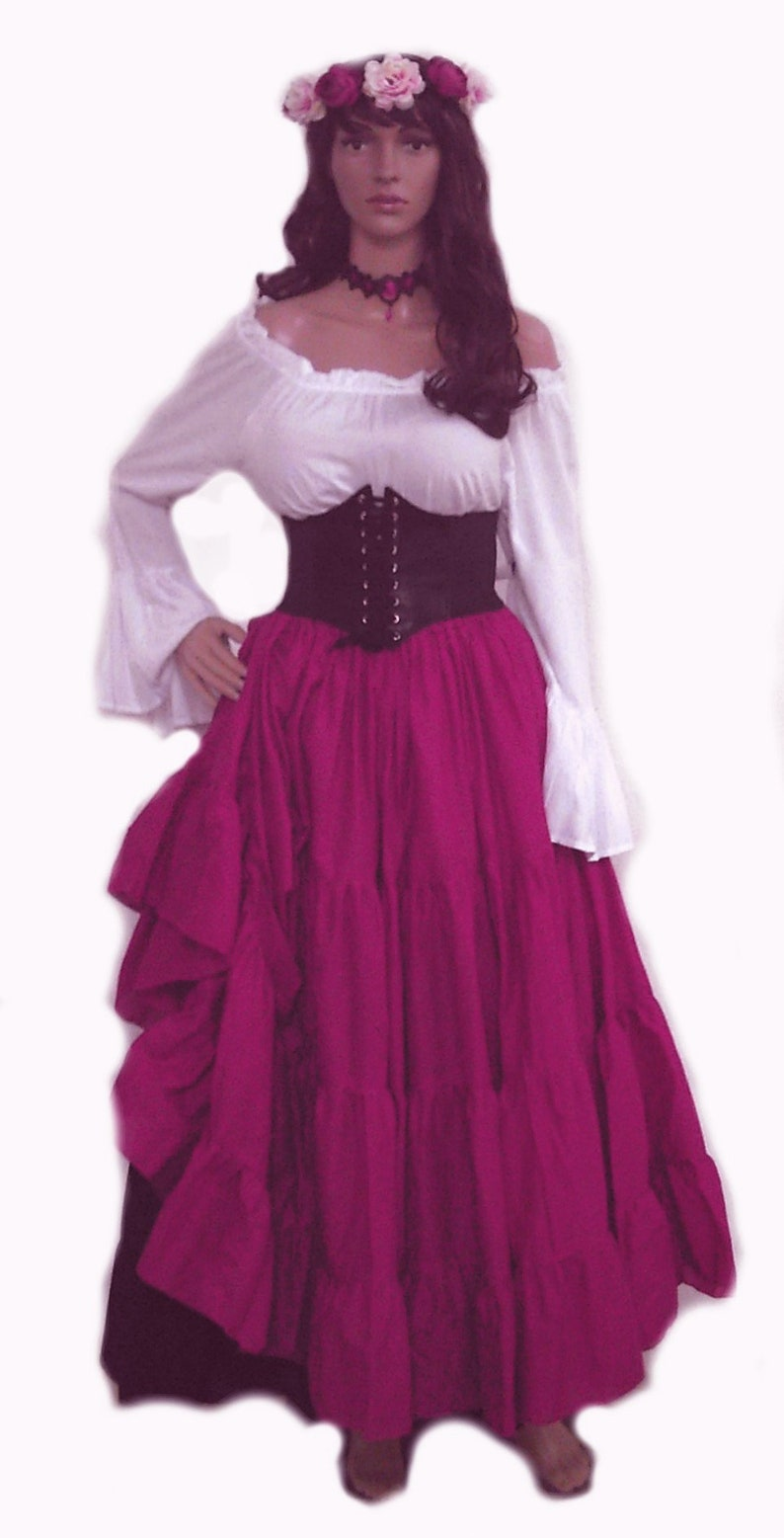 126197c1755 Renaissance Dress Pirate Gypsy Chemise Corset Outfit Waist