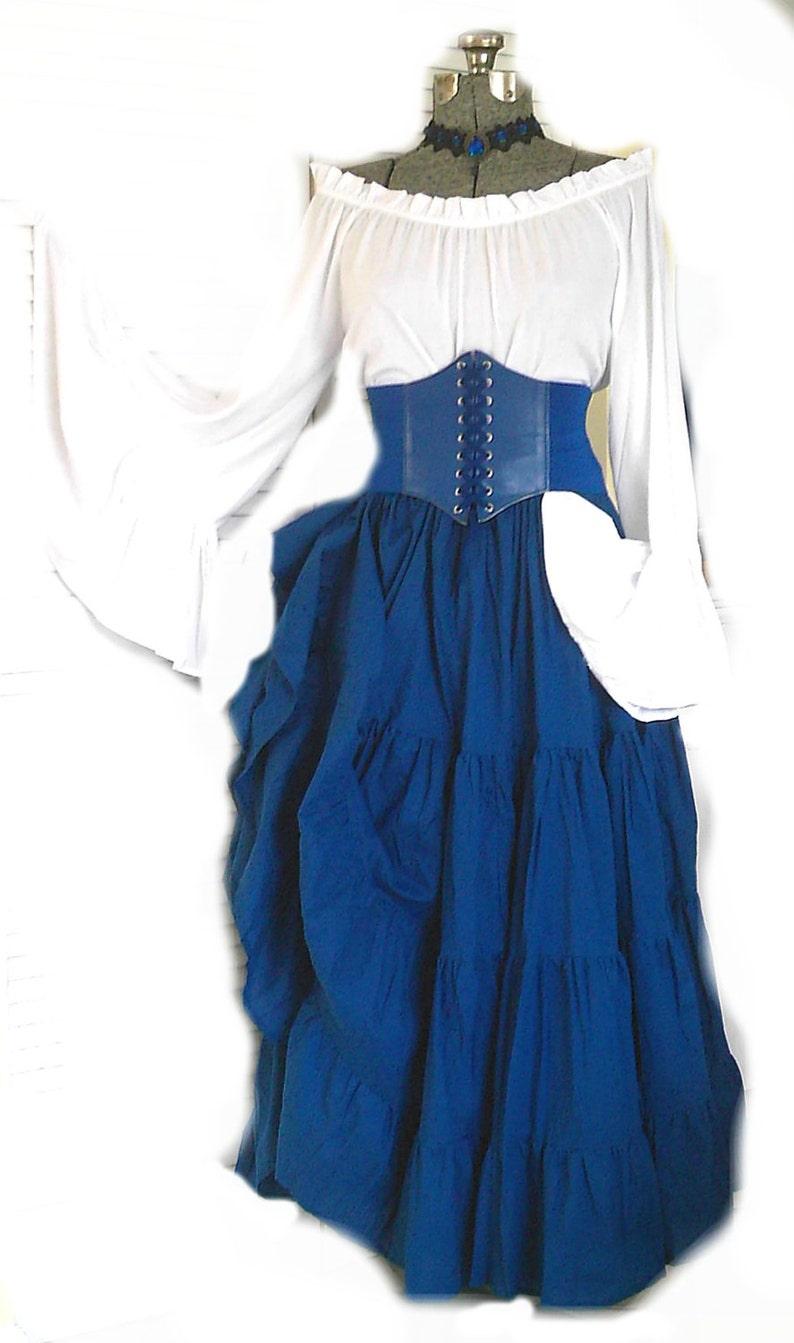 9b74c54f569 Renaissance Dress Pirate Gypsy Chemise Corset Waist Cincher 4