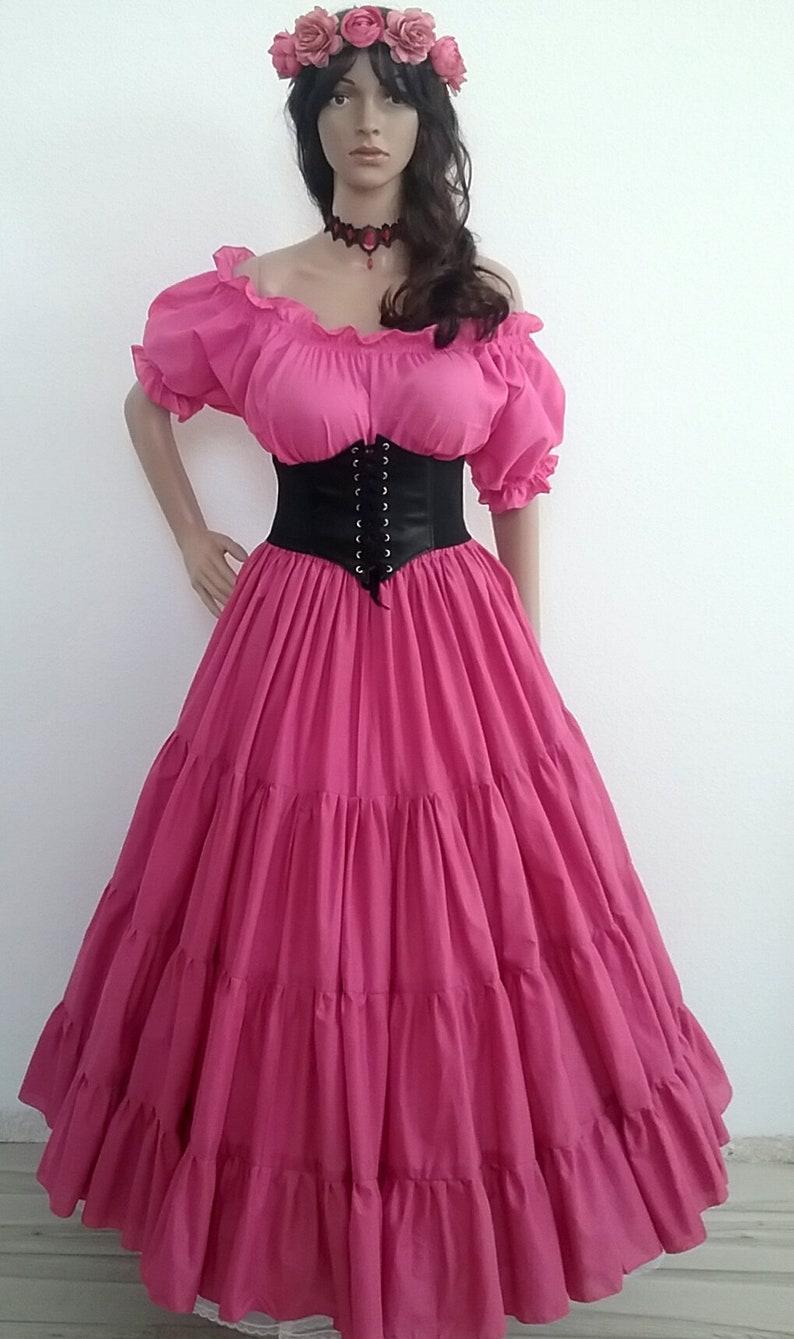 e0b089e97 Renaissance Dress Chemise Corset Outfit 4 pcs Wench Pirate